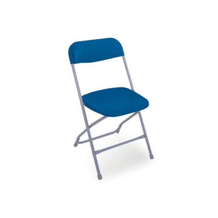Folding Chair in Blue with Grey Frame