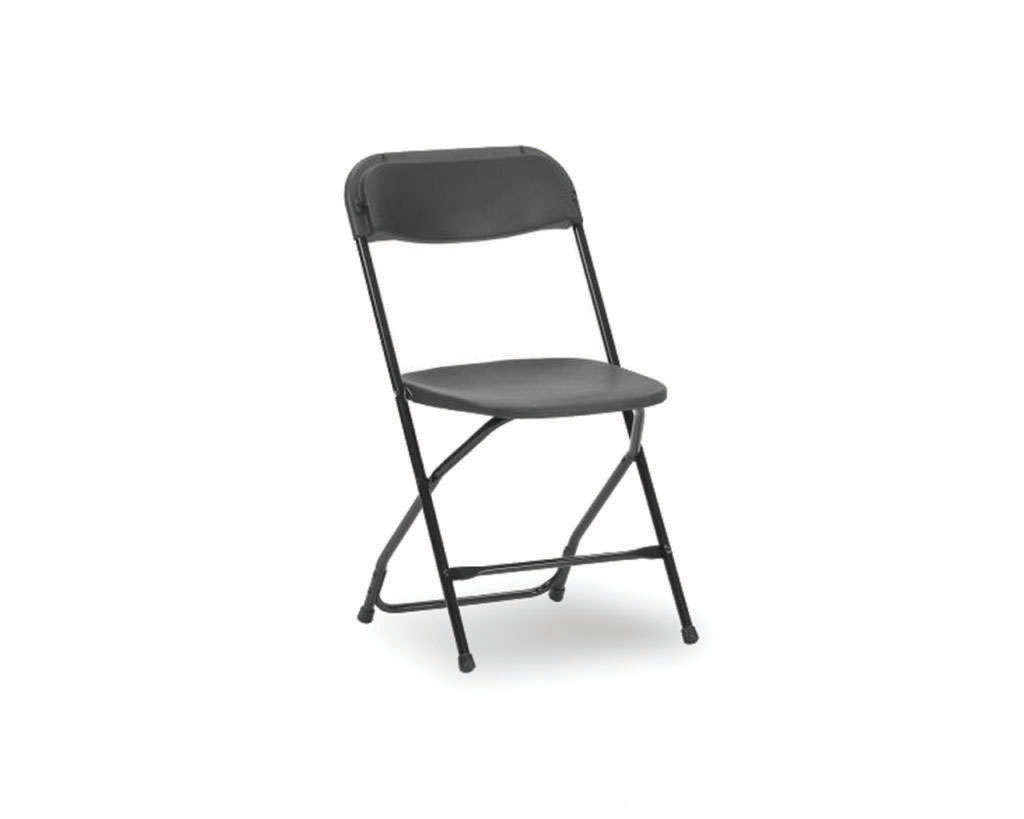 Folding Chair in Charcoal with Black Frame