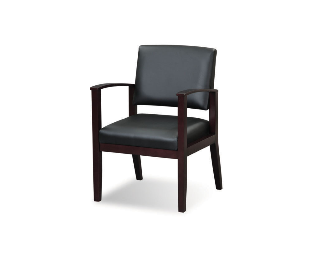 Morley Chair in Bonded Leather & Espresso Frame
