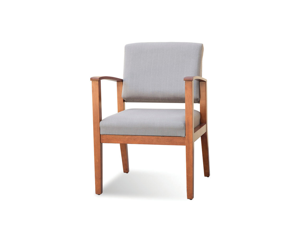 Morley Chair in Taupe Fabric and Cherry Frame