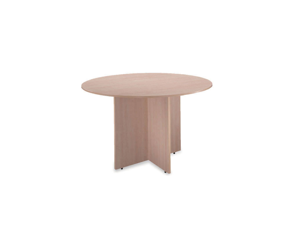 Classic Round Conference Table with Cross Base
