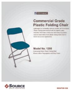 Commercial Grade Plastic Folding