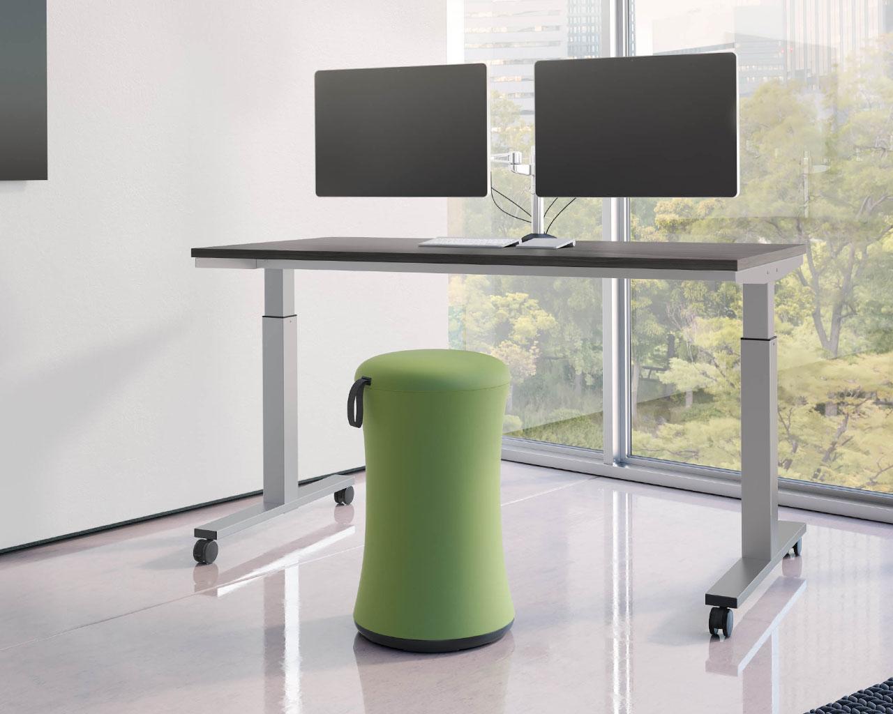 Picture of: Standing Desk Classic Crank Adjustable Standing Desk Table