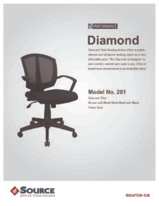 Diamond Task Chair Specifications