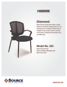 Diamond Guest Chair Specifications