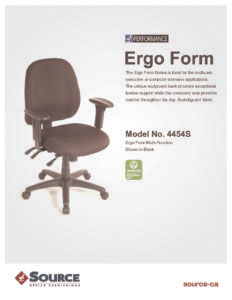 Ergo Form Multi-Function Specifications