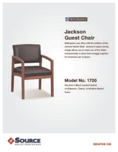 Jackson Guest Chair Specifications