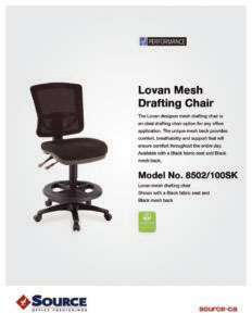 Lovan Drafting Chair Specifications