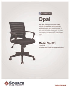 Opal Task Chair Specifications