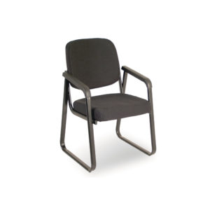 Ashton Sled Base Chair in Black Fabric