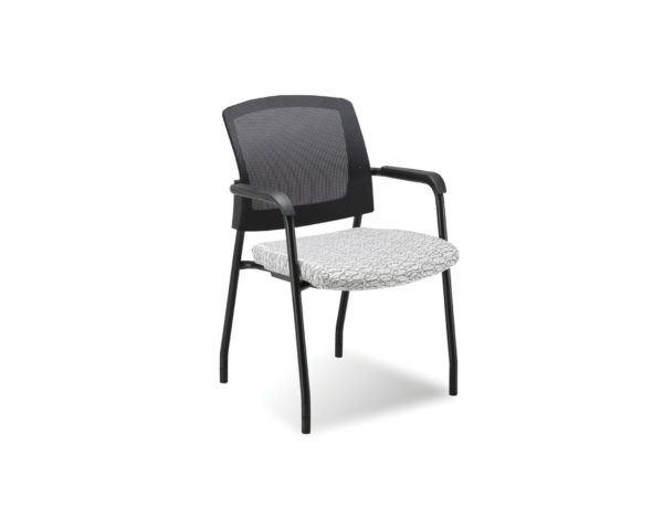 Aero Stackable Chair in White Ovali Fabric