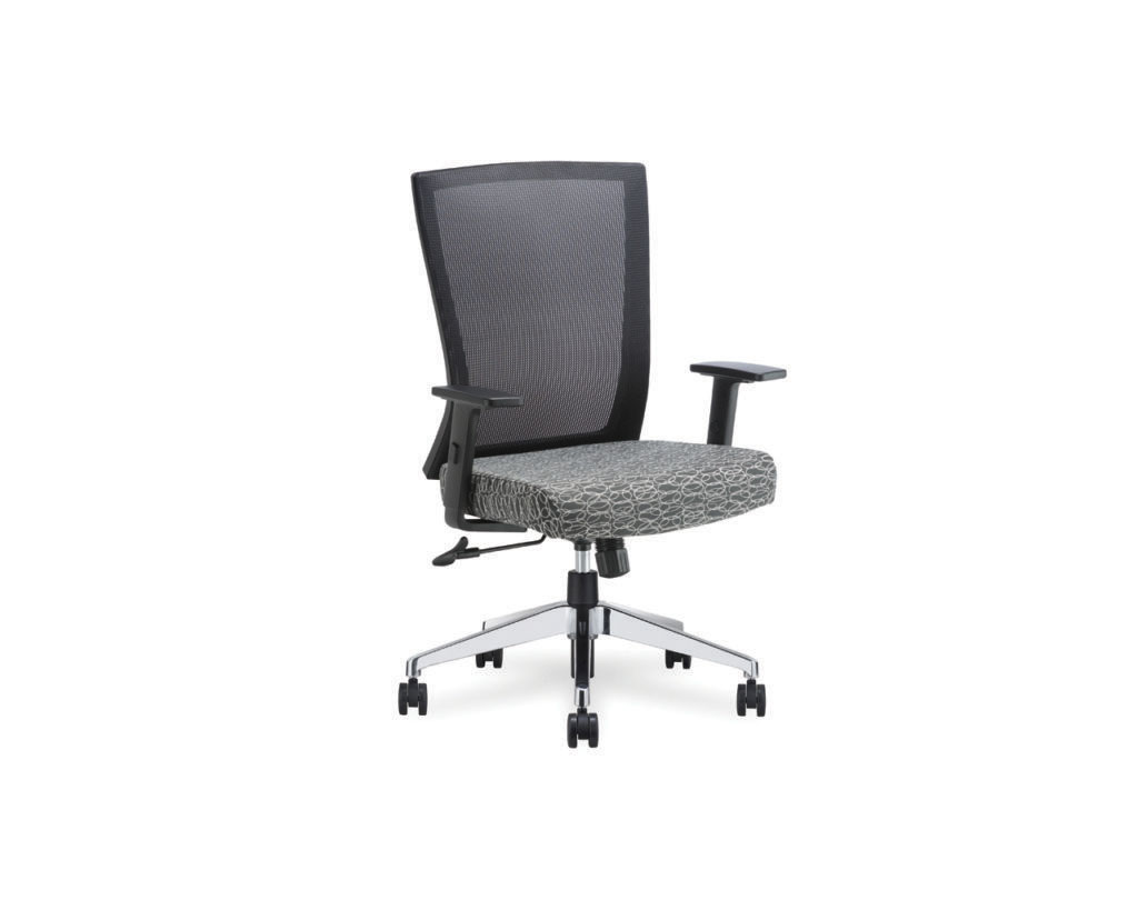 Esprit Chair in Black Ovali Fabric with Upgraded Base