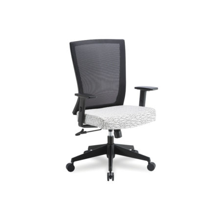 Esprit Mid Back Chair in White Ovali Fabric