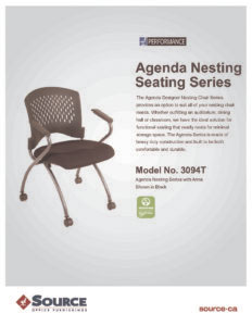 Agenda Nesting Chair Specifications