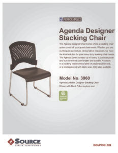 Agenda Stacking Chair Specifications