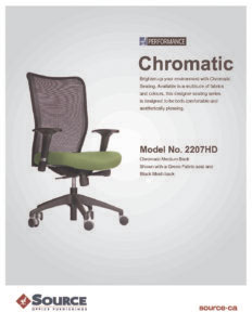 Chromatic Mesh Medium Back Chair Specifications