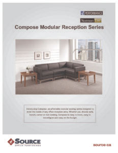 Compose Reception Seating Series Specifications