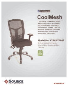 CoolMesh High Back Specifications