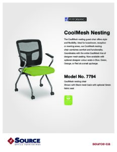 CoolMesh Nesting Chair Specifications