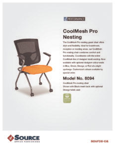 CoolMesh Pro Nesting Chair Specifications