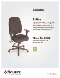 Entice High Back Chair Specifications