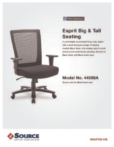 Esprit Big & Tall Specifications