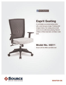 Esprit Chair Specifications