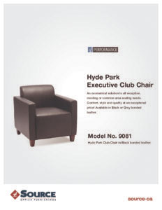 Hyde Park Club Chair Specifications