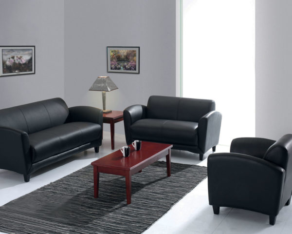 Manhattan Leather Reception Seating Series