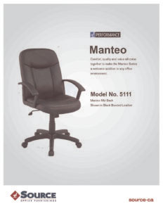 Manteo Mid Back Chair Specifications