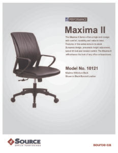 Maxima II Mid Back Specifications