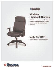 Modena High Back Chair Specifications