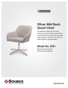 Oliver Guest Chair Specifications