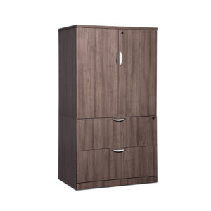 Locking Storage Cabinet/Lateral File Combo Storage Cabinet