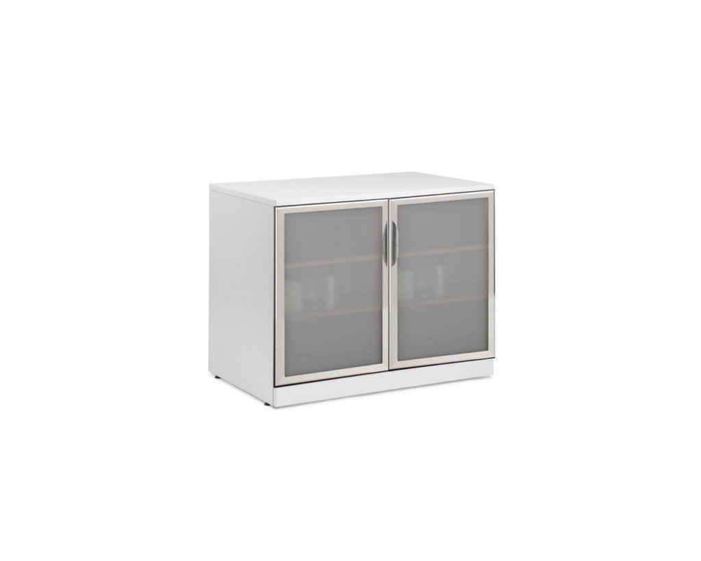 """Classic 29.5""""H Locking Double Door Cabinet with Optional Glass Doors (Non Locking)"""