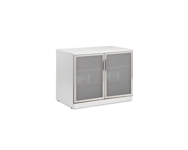 "Classic 29.5""H Locking Double Door Cabinet with Optional Glass Doors (Non Locking)"
