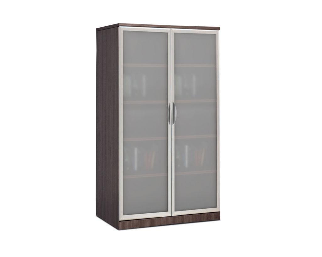 Double Door Storage Cabinet with Optional Non Locking Glass Doors