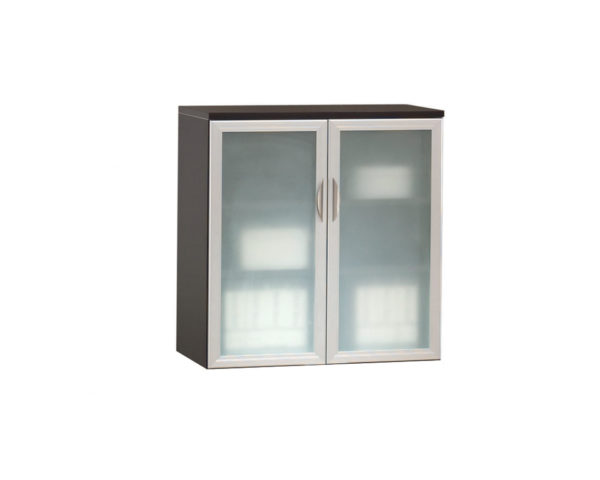 Locking Double Door Cabinet with Optional Glass Door