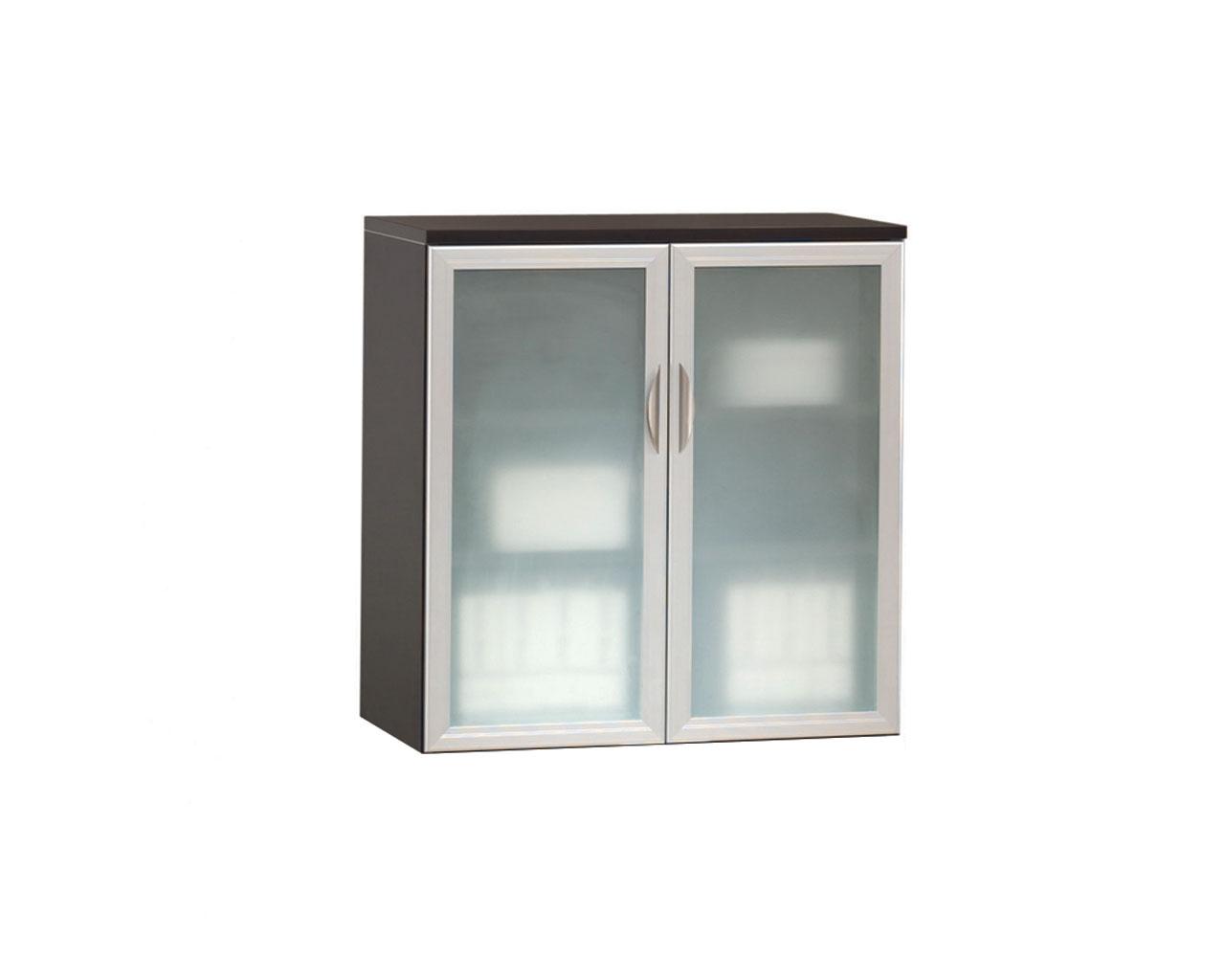 Locking Double Door Cabinet with Optional Glass Door