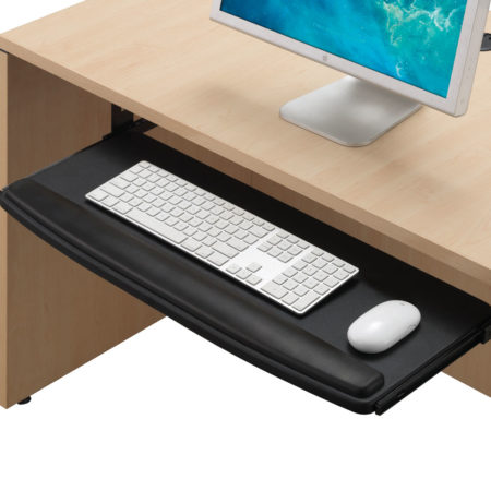 Premium Extra Wide Keyboard Tray with Padded Wrist Rest
