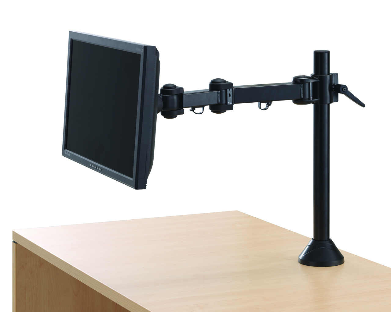 """Single Monitor Arm with 17"""" Reach"""