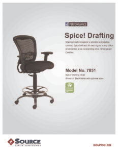 Spice! Drafting Chair Specifications