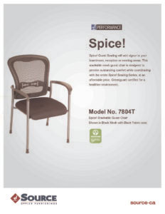Spice! Mesh Guest Chair Specifications
