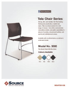 Tela Seating Series Specifications