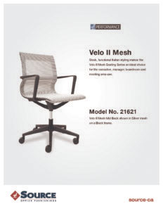 Velo II Mesh Chair Specifications