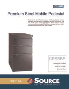 Steelwise Mobile Pedestal Spec_sheet