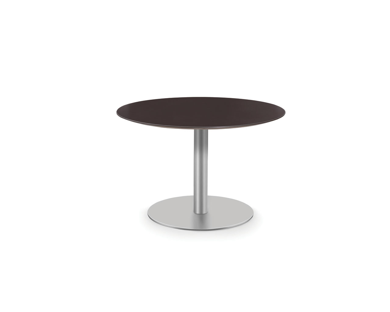 "Classic 20""H Round Beveled Edge Table with Metal Base"