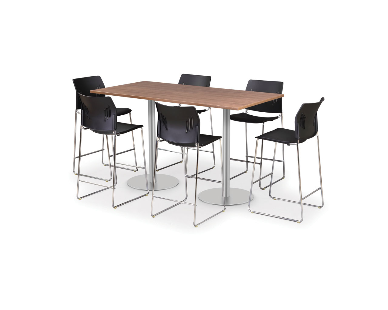 Classic Beveled Edge Bistro Meeting Table