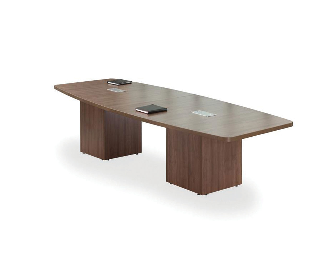 Classic Boat-Shaped Table with Cube Base