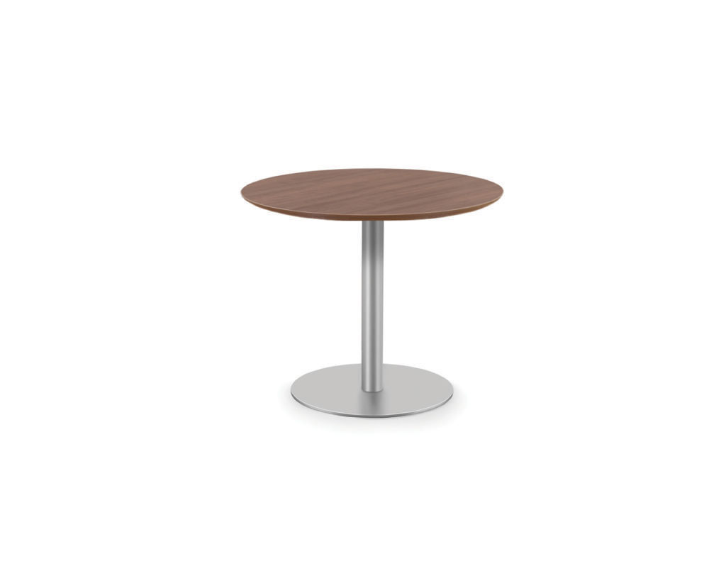 Classic Round Beveled Top Table with Round Base